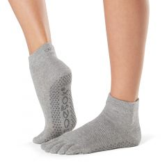 ToeSox Ankle Full Toe Heather Grey