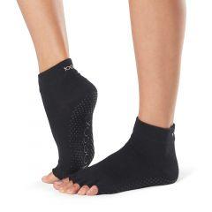 ToeSox Ankle Half Toe Black