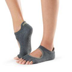 ToeSox Bellarina Half Toe Charcoal Grey