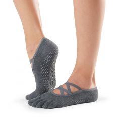 ToeSox Elle Full Toe Charcoal
