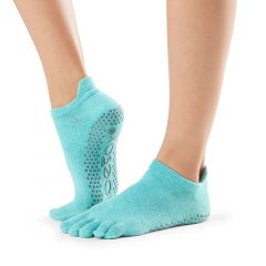 ToeSox Low Rise Full Toe Aqua