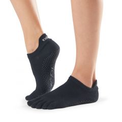 ToeSox Low Rise Full Toe Black