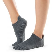ToeSox Low Rise Full Toe Charcoal Grey