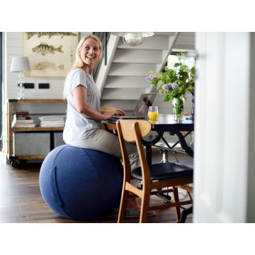 SISSEL® Gym Ball Cover Ø 65 cm, blau