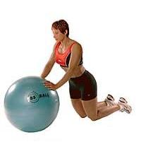 SISSEL® Gymnastikball: Gekniete Liegestütze