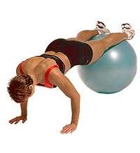 SISSEL® Gymnastikball: Geneigtes Knieeinziehen