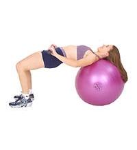 SISSEL® Heavy Bar auf SISSEL® Gymnastikball: Gesässmuskulaturtraining