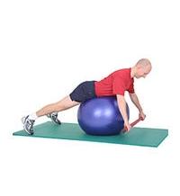 SISSEL® Heavy Bar auf SISSEL® Gymnastikball: Liegendes Rudern