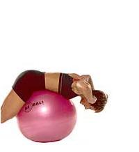 SISSEL® Gymnastikball: Rückenaufbau