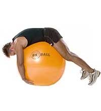 SISSEL® Gymnastikball: Rückendehnungsübung