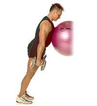 Ball und Hanteln: Wadenheben