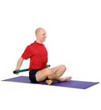SISSEL® Heavy Bar: Sitzendes Bruststretchen