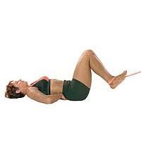 SISSEL® Fitband: Bauchmuskelübung rückwärts