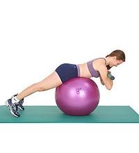 SISSEL® Heavy Bar auf SISSEL® Gymnastikball: Stärkung der Rückenmuskulatur