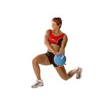 SISSEL® Medizinball: Kniebeugen mit Medizinball