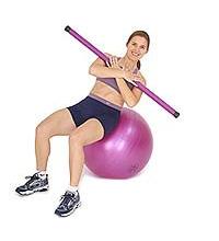 SISSEL® Heavy Bar auf SISSEL® Gymnastikball: Seitliches Bauchmuskeltraining