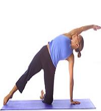 Yoga: Anfänger Seitenplanke